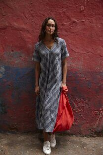 Платье летнее Sahara Chambray Cotton Check Dress