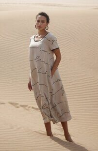Платье летнее  Sahara Signature Linen Print  Dress