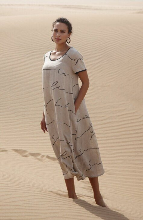 Платье летнее  Sahara Signature Linen Print  Dress (1)